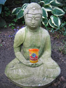 buddha with Play Doh