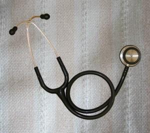 stethoscope on prayer shawl