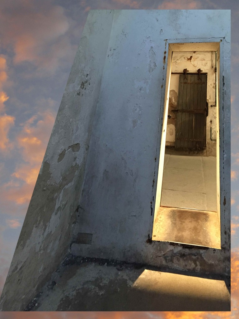 prison cell and sky