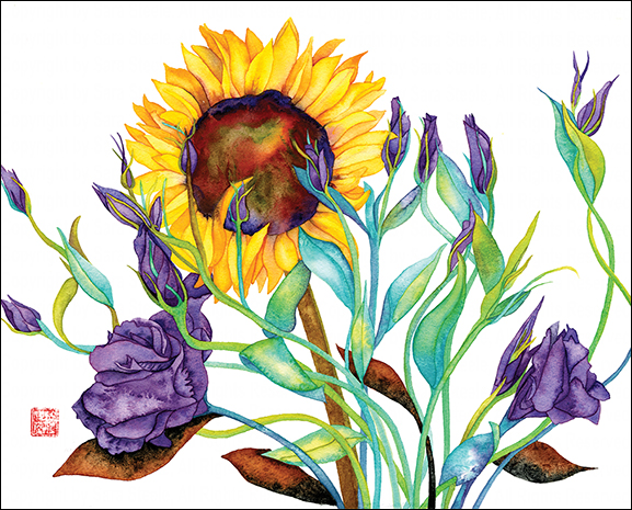 Lisianthus & Sunflower, by Sara Steele. All rights reserved. Used by permission.